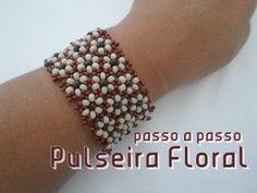 NM Bijoux - Pulseira Floral - passo a passo - YouTube