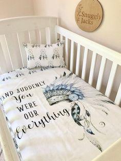 Baby Cot / Crib Quilt Blanket Everything Headdress Tribal Baby Cot / Crib Quilt Blanket Everything Headdress by SnugglyJacks Baby Boy Rooms, Baby Boy Nurseries, Baby Cribs, Baby Room, Nursery Boy, Nursery Ideas, Disney Crib Bedding, Baby Bedding, Shower Bebe