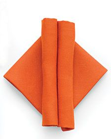Napkins with a Modern Fold