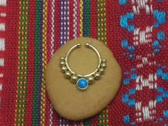Fake ring, indian fake ring, fake septum, fake nose ring, tribal jewelry, indian jewelry by opaljewells on Etsy