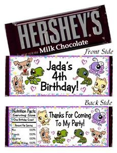 12 Littlest Pet Shop Birthday Party or Baby Shower Candy Hershey Bar Wrappers | eBay