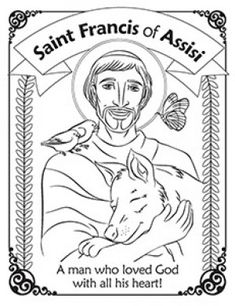saint francis of assisi coloring page - Buscar con Google