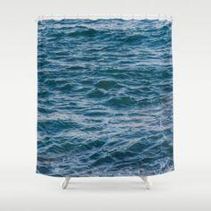 Blue deep ocean water Shower Curtain #homedecor #beachlovedecor #showercurtain #bathdecor #coastal #ocean #beach #Hawaii #Hawaiian #water #tropical #bathroomdecor #bath #shower #blue