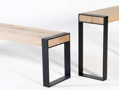 The beams are made of solid oak heartwood with knots and cracks. The base is made of powdercoated metal. The console will be delivered assembled. Would..
