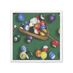 Pool Break Billiards Theme Napkins