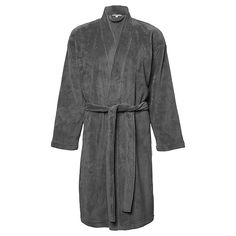 Coral Fleece Short Dressing Gown - Grey $15! Perfect for cold winter nights at home. Bought it