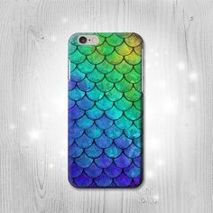 Mermaid Fish Scale iPhone 6S 6 Plus 6 5 5S 5C 4 4S by Lantadesign