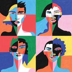 Lynnie Zulu | Illustrator | Central Illustration Agency #lynnie #zulu #bold #colourful #painterly #female #male #block