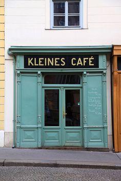 The littlest cafe in Vienna, Austria