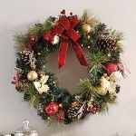 Indoor or Outdoor Battery Operated Christmas holiday wreath. Celebrate the warmth of the holidays by decorating your home with an elegant assortment of Christmas wreath and garland. Check out our top 10 for 2015.