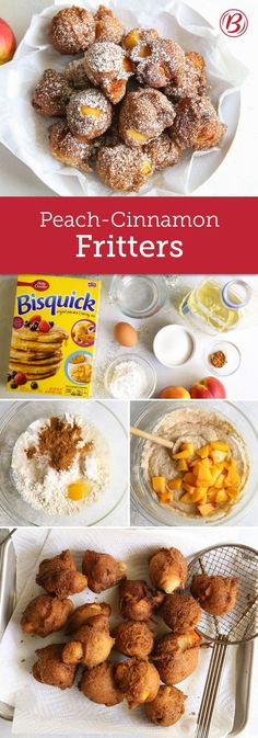 Skip the bakery run and make these bite-size peach fritters at home. Whether you make them for the kids after school or bring them into the office, one thing is for sure—there won't be any left behind.