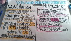 V/Q Ratio Ventilation/Perfusion Med Surg Nursing, Cardiac Nursing, Neonatal Nursing, Nursing Assessment, Nursing Mnemonics, Nursing Tips, Nursing Notes, Rn School, Mechanical Ventilation