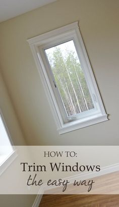 Easy window trim instructions from Ana White