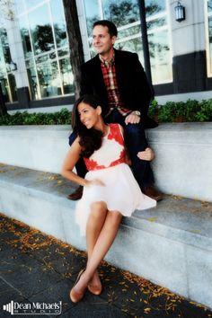 Natalie & Jason's Jersey City, NJ #engagement shoot in October 2013! (photo by deanmichaelstudio.com) #njwedding #njweddings #njengagement #engaged #love #kiss #photography #deanmichaelstudio