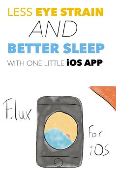 """An easy way to sleep better at night when using an iPhone or iPad before going to bed. Installing f.lux reduces to glow of your device and makes the screen temperature """"warmer"""", hence: less stressful."""