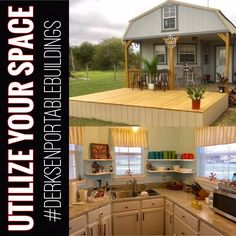 Check out this 16 x 40 Deluxe Lofted Barn Cabin! Whether you're needing space for storage or a place to live is the BEST choice when it comes to We love how this one turned out cannot wait for more updated pictures // Shed To Tiny House, Shed House Plans, Cabin Floor Plans, Tiny House Cabin, Tiny House Living, Tiny House Design, Small House Plans, Living Room, Lofted Barn Cabin