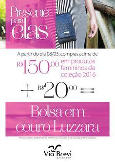 Campanha comercial desenvolvida pela Conceito Agência Conceito para as lojas Via Brevi para o Dia da Mulher 2016.