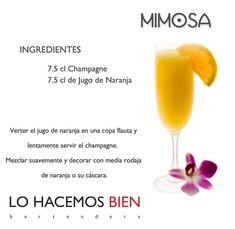 Mimosa - Festejá con Estilo! de LO HACEMOS BIEN bartenders Como preparar un Mimosa - Recipie How to prepare a Mimosa - Party with style!