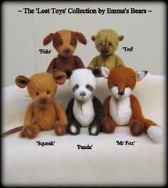 The Lost Toys Collection Emma's Bears e PATTERN to by EmmasBears