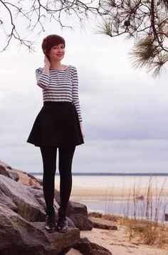 French chic- gamine stripes- just needs a longer skirt and it's perfect!