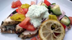 Greek Chicken with Feta Tzatziki