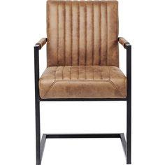 Cantilever Spisebordsstol m. armlæn, Liberty. Brun farve