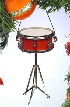 """5/"""" Tall by Broadway Gifts Realistic HIGH HAT Drums Christmas Ornament"""