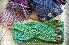 Chunky Braided Winter Headband   Alaska Knit Nat but adapt for crochet