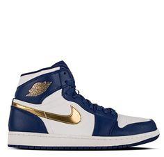 best sneakers c0efc 4681c Air Jordan 1 Retro High Deep Royal Blue Metallic Gold Coin White