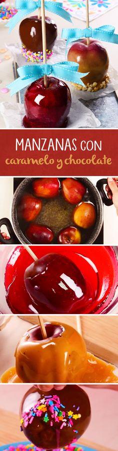 ¿Buscas un regalo para darle a tu profesor este Día del Maestro? Prepara estas manzanas cubiertas con caramelo o chocolate. Son muy fáciles de hacer y son un postre perfecto para regalar, decorar mesas de dulces o dar en fiestas temáticas.