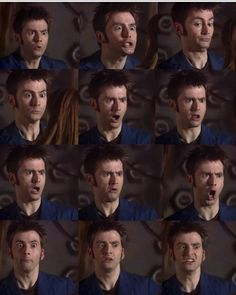 David Tennant - excuse me sir but how does your face work<..... Pinned for that comment. Because, siriusly, the ONLY person I know who can do as many facial expressions as him is my five-year-old sister.