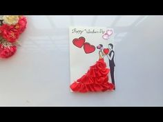 Learn how to create a Valentines day ,I have some pretty awesome ideas for you! If you like to make handmade Valentines day card you need some coloring pa. Valentines Day Cards Handmade, Easy Valentine Crafts, Diy Origami Cards, Cards Diy, Diy Anniversary Cards For Parents, Valentine's Day Diy, Video Tutorials, Stationary, Party Supplies