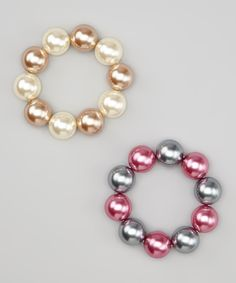 Do ---  Take a look at this Pearl Chunky Bead Bracelets on zulily today!