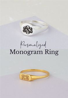 117 Best Name Ring Images Name Rings Stackable Name Rings