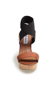 Steve Madden 'Roperr' Wedge Sandal, Steve Madden knows how to make a shoe, in… Crazy Shoes, Me Too Shoes, Keds, Looks Style, My Style, Mode Shoes, Shoe Closet, Swagg, Jordan Shoes