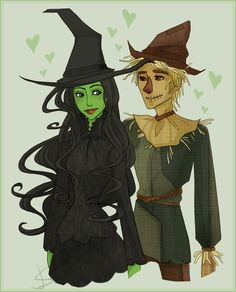 Elphaba and Fiyero...the perfect ending to The Wizard of Oz aka Wicked the Musical.