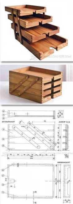 Wooden Desk Tray Plans - Woodworking Plans and Projects | WoodArchivist.com