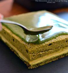 Matcha Opera Gateau (Green Tea Layer Cake)
