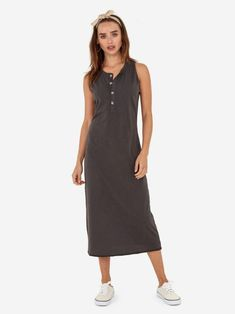The Avery Midi Dress / Charcoal Lounge Shorts, Home Outfit, Charcoal Color, Fashion Brand, Organic Cotton, Dresses For Work, How To Wear, Outfits, Collection