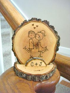 Rustic Wedding Cake Topper Couple Wood by SweetHomeWoods on Etsy, $28.00