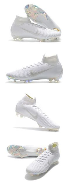 Nike Mercurial Superfly VI 360 Elite FG Oberschuhe – Ganz in Weiß – Soccer – Join in the world of pin Womens Soccer Cleats, Adidas Soccer Shoes, Nike Football Boots, White Football Cleats, Nike Boots, Soccer Boots, Superfly Cleats, Nike Mercurial Superfly, Nike Cleats