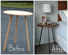 Upcycled Tripod Table
