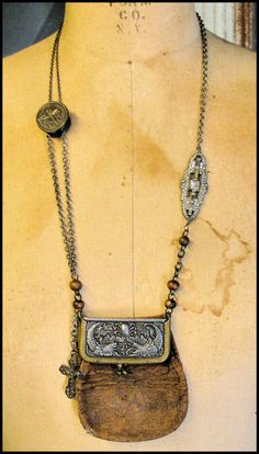 Sign In - Bit Coin - Ideas of Bit Coin - Victorian coin purse necklace sold from ScatteredMoments etsy shop Funky Jewelry, Jewelry Crafts, Jewelry Art, Vintage Jewelry, Jewelry Necklaces, Jewelry Design, Jewelry Accessories, Jewellery, Leather Jewelry