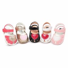 >> Click to Buy << New Summer Heart Princess sandals Cute PU leather Baby moccasins child Summer girls sandals Sneakers Baby shoes 0-18 M #Affiliate