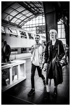 Antwerp - People at the railway station in Antwerp, Belgium