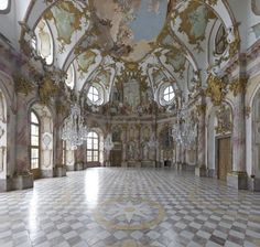 Imperial Room of the Würzburg Residence. A palace in western Germany