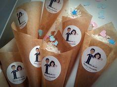 como hacer cucuruchos de arroz para bodas