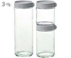 Braucht jede Küchenfee: Die gläsernen Vorratsdosen Lotta mit grauem Schraubverschluss sind die perfekten Küchenhelfer. Lassen Sie sich von GLASSLOCK bei >> WestwingNow inspirieren.