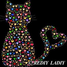 Diamond Painting Cat of Hearts Kit Dot Art Painting, Pebble Painting, Stone Painting, Girly Drawings, Photo Chat, 5d Diamond Painting, Mosaic Patterns, Easy Paintings, Heart Art