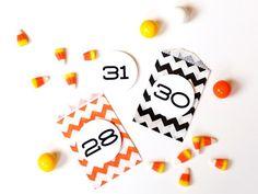 Halloween Countdown Calendar by The TomKat Studio for DIY Network http://www.thetomkatstudio.com/halloweendiynetwork/